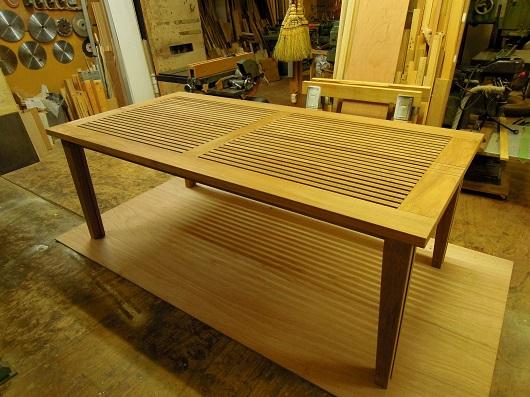 チークのデッキテーブル その3 (完成)