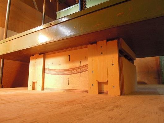 マガジンラック製作 (成形合板)
